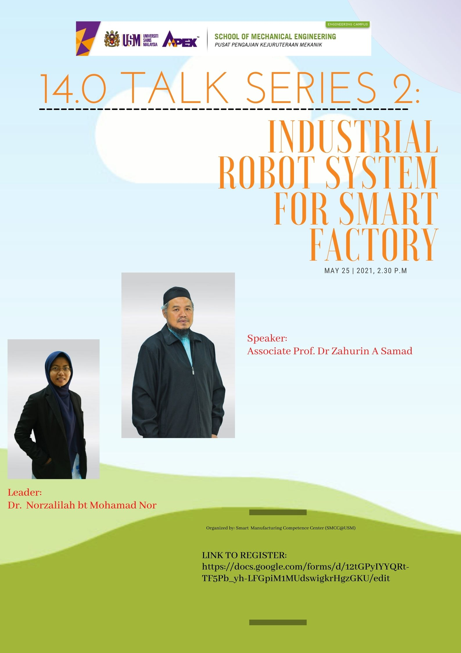Talk Series 2 Industrial Robot System for Smart Factory
